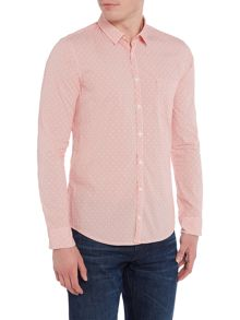 Hugo Boss Eglam long-sleeve stripe shirt