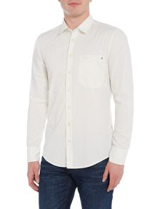 Hugo Boss Elvedge all-over fleck long-sleeve shirt