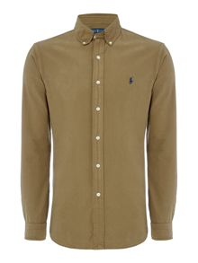 Polo Ralph Lauren Custom fit garment dye long sleeve oxford shirt