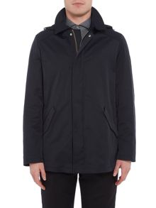 Bugatti Flexcity Smart Zip Raincoat Mac With Hood