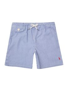 Polo Ralph Lauren Boys Small Logo Stripe Swim Shorts