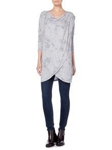 Label Lab Wings wrap over cowl neck knit