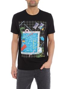 Diesel Pool graphic t-shirt
