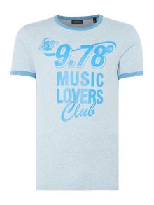 Diesel Music lovers club graphic t-shirt