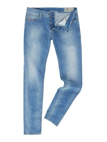 Diesel Sleenker skinny light wash jeans