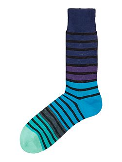 Graduated Block Stripe Sock