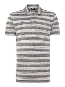 PS By Paul Smith Space Dye Stripe Polo Shirt