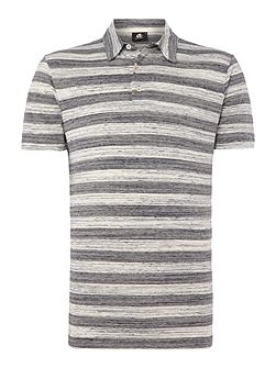 Space Dye Stripe Polo Shirt