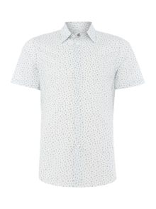PS By Paul Smith  Short Sleeve Cactus Print Oxford Shirt