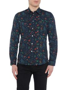 PS By Paul Smith Long Sleeve Botanical Print Shirt