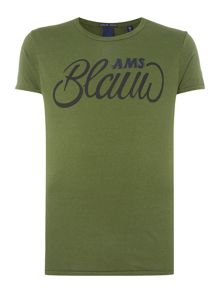 Scotch & Soda AMS Blauw Brand Tee