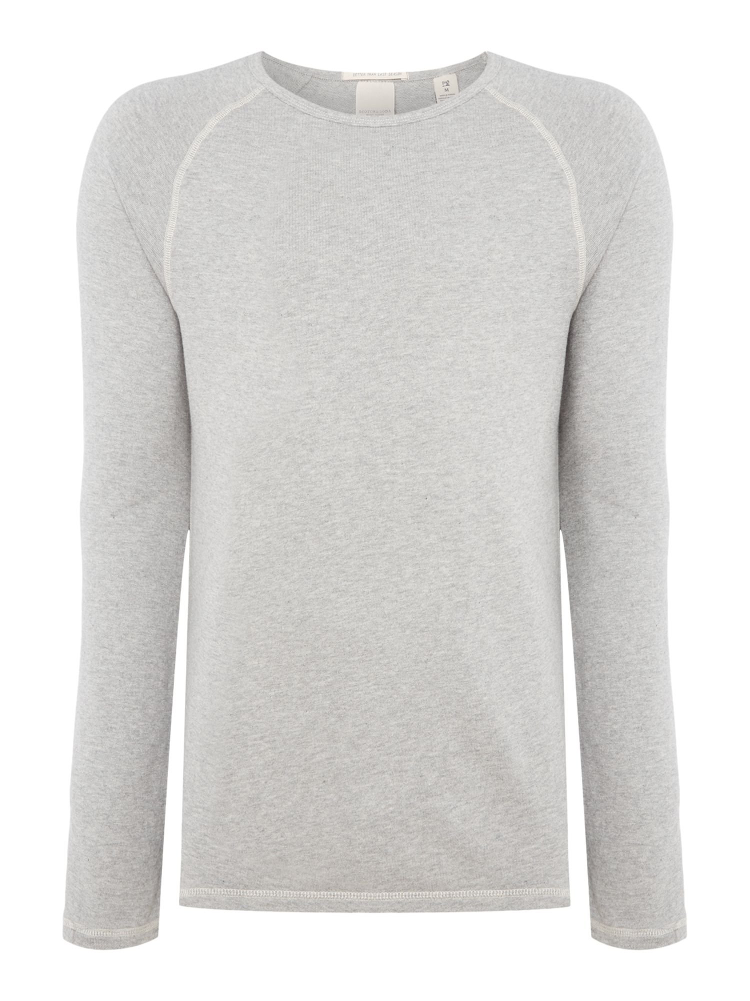 Men's Scotch & Soda Home Alone Long Sleeve Tee, Grey