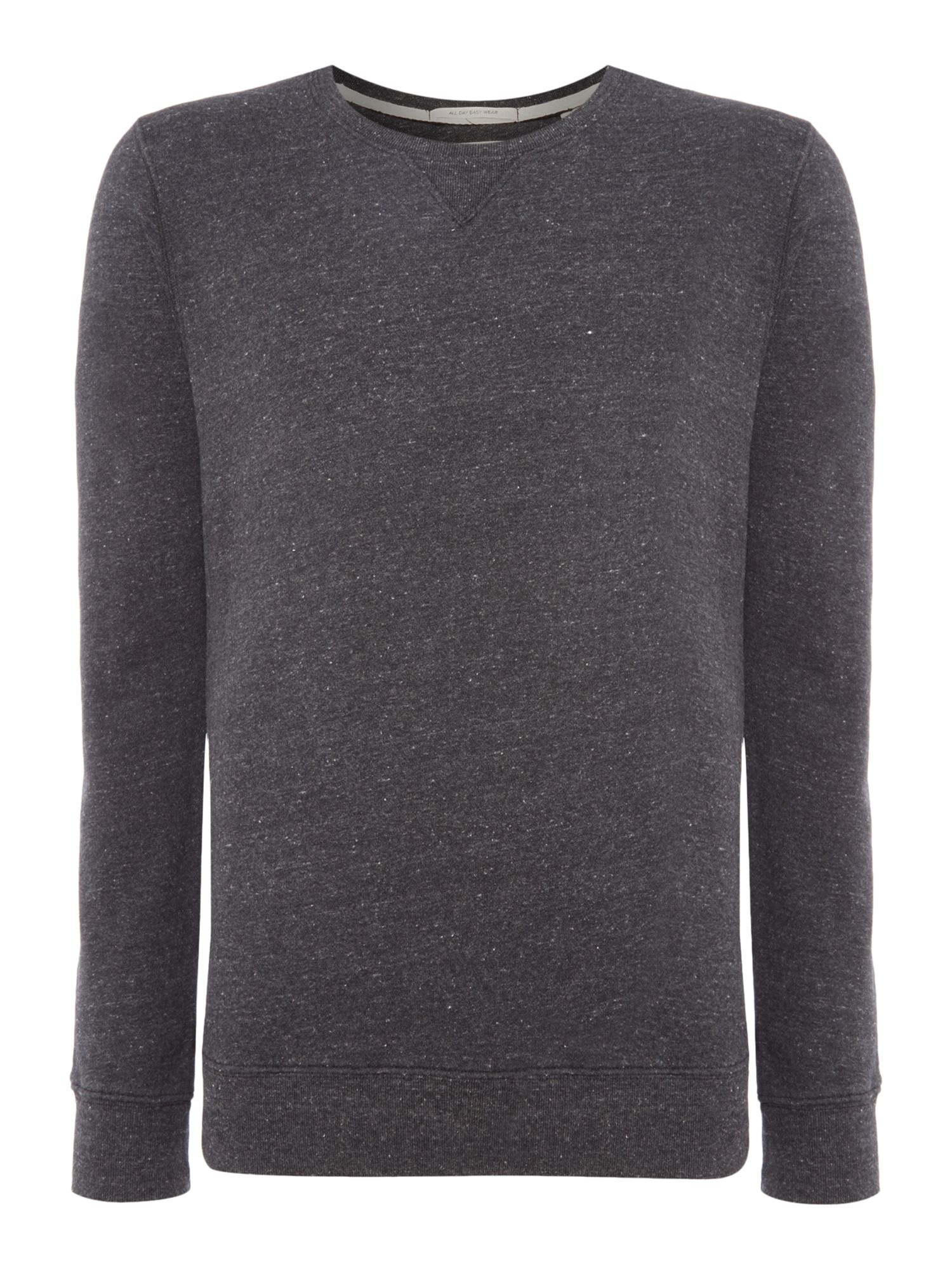 Men's Scotch & Soda Home Alone Crew Neck Sweat, Charcoal