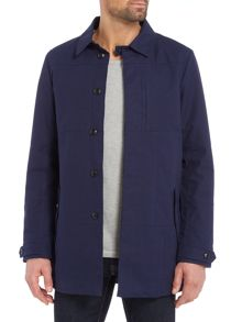 Scotch & Soda AMS Blauw Clean Trench Coat