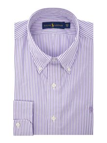 Polo Ralph Lauren Classic Fit Button Down Dobby Stripe Shirt