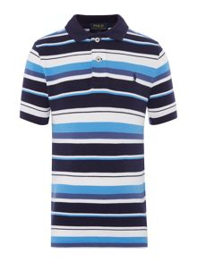 Polo Ralph Lauren Boys Racing Stripe Short Sleeve Polo