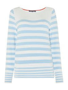Tommy Hilfiger Ivy Stripe Boat Neck Sweater
