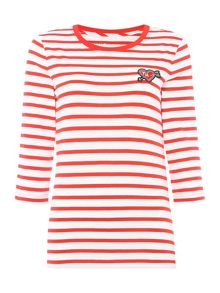 Tommy Hilfiger Stripe Heart Badge T-Shirt