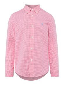 Polo Ralph Lauren Boys Small Gingham Long Sleeve Shirt