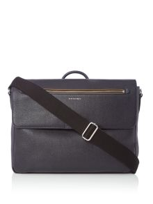 Paul Smith Leather Flap Over Messenger Bag