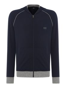 Hugo Boss Logo Zip Hooded Sweatshirt
