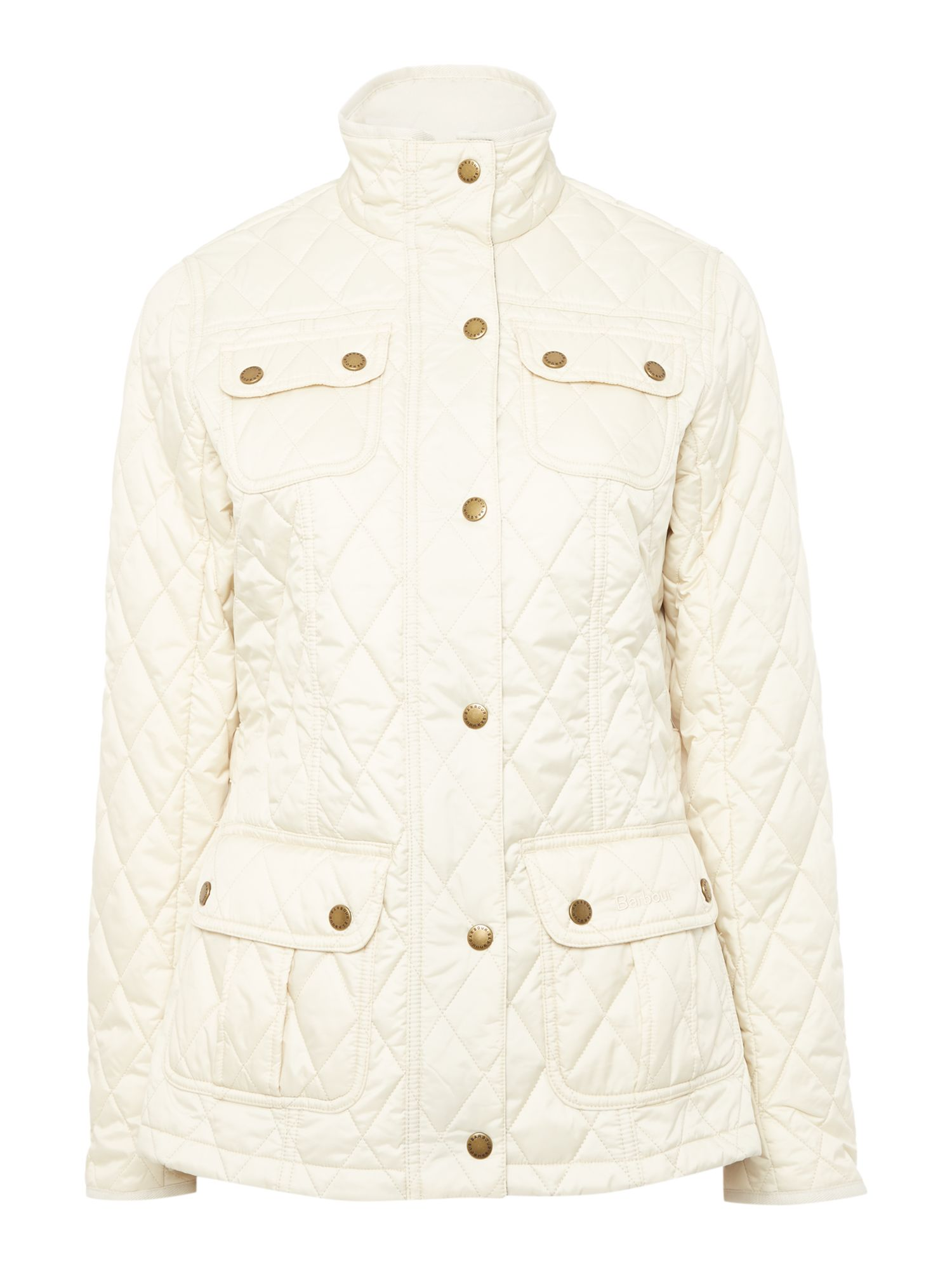 Barbour Rebecca utility quilted jacket, Off White