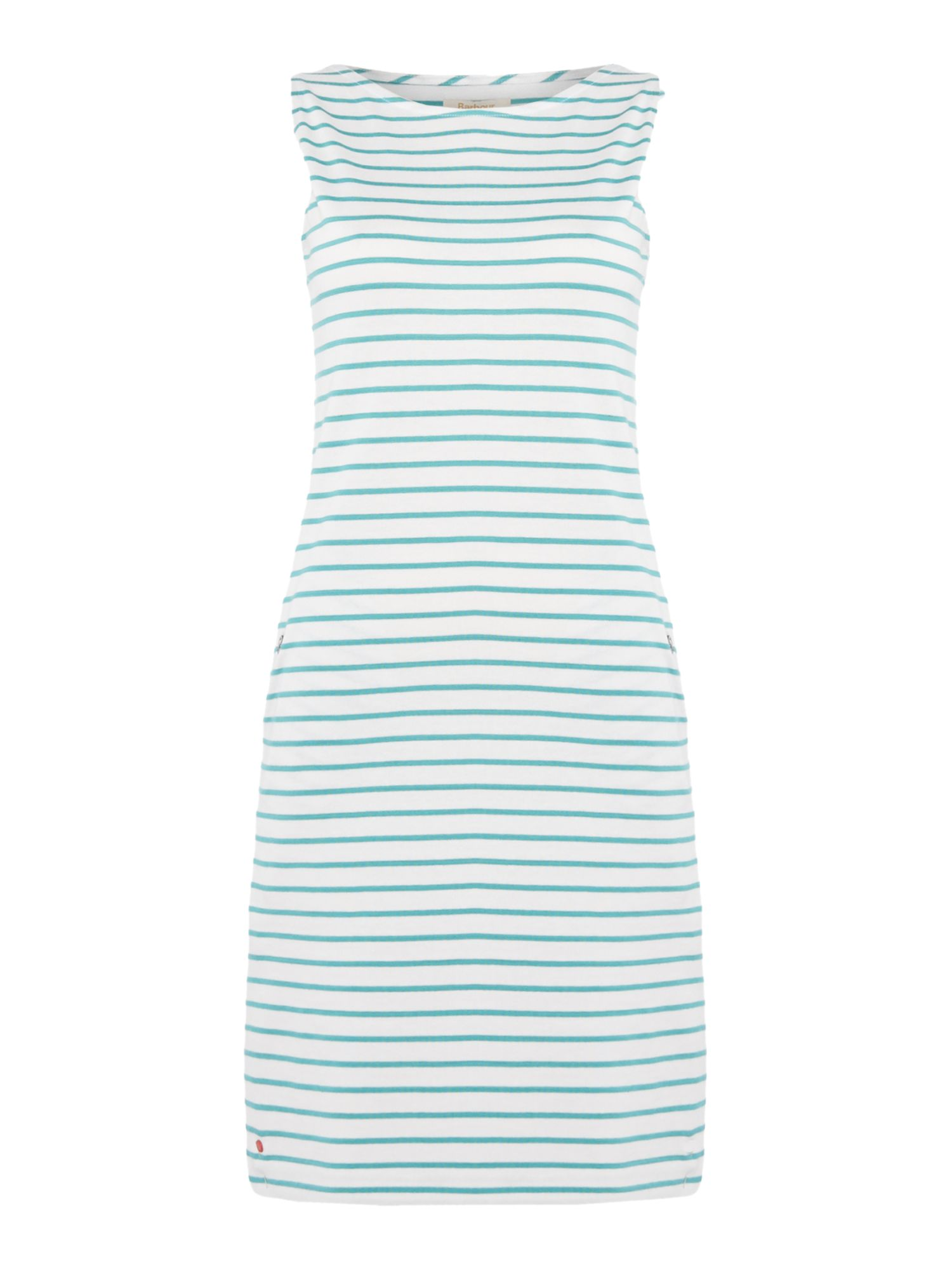 Barbour Dalmore stripe jersey shift dress, Multi-Coloured