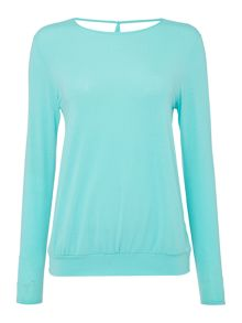 Label Lab YOGA CROSS OVER BACK LONG SLEEVE TOP