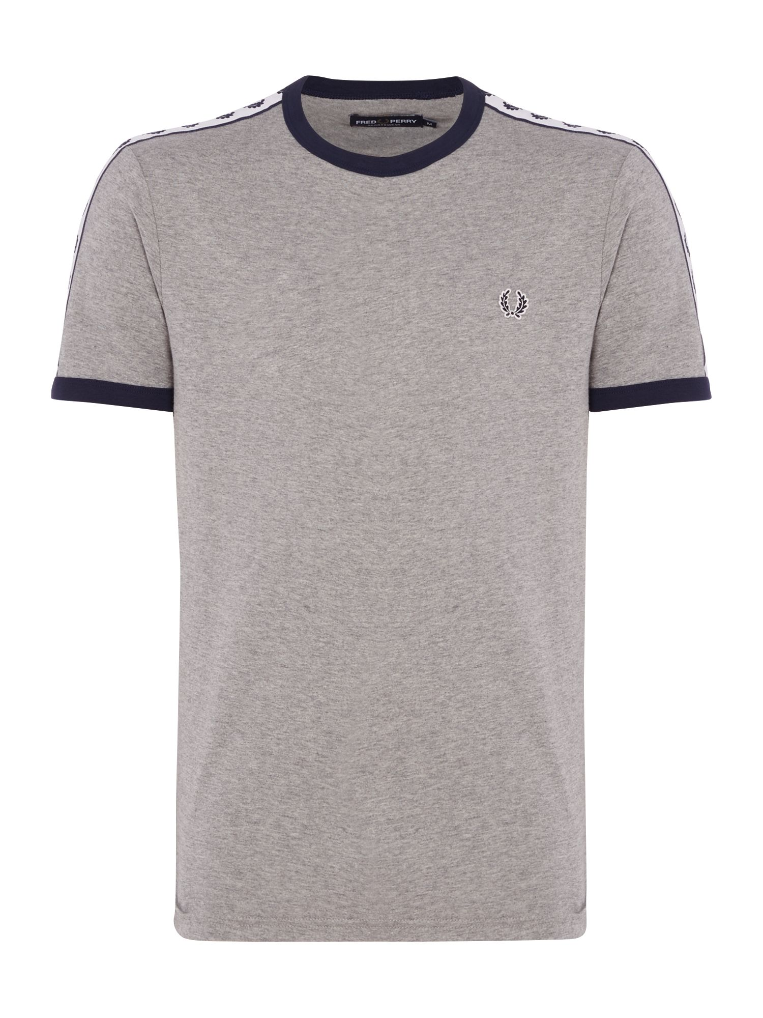Men's Fred Perry Plain Crew Neck Regular Fit T-Shirt, Steel