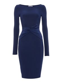 Jessica Wright Longsleeve Slinky Bodycon Midi Dress