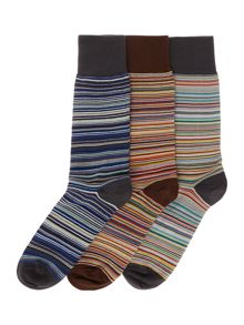 Paul Smith Multistripe Sock In A Box