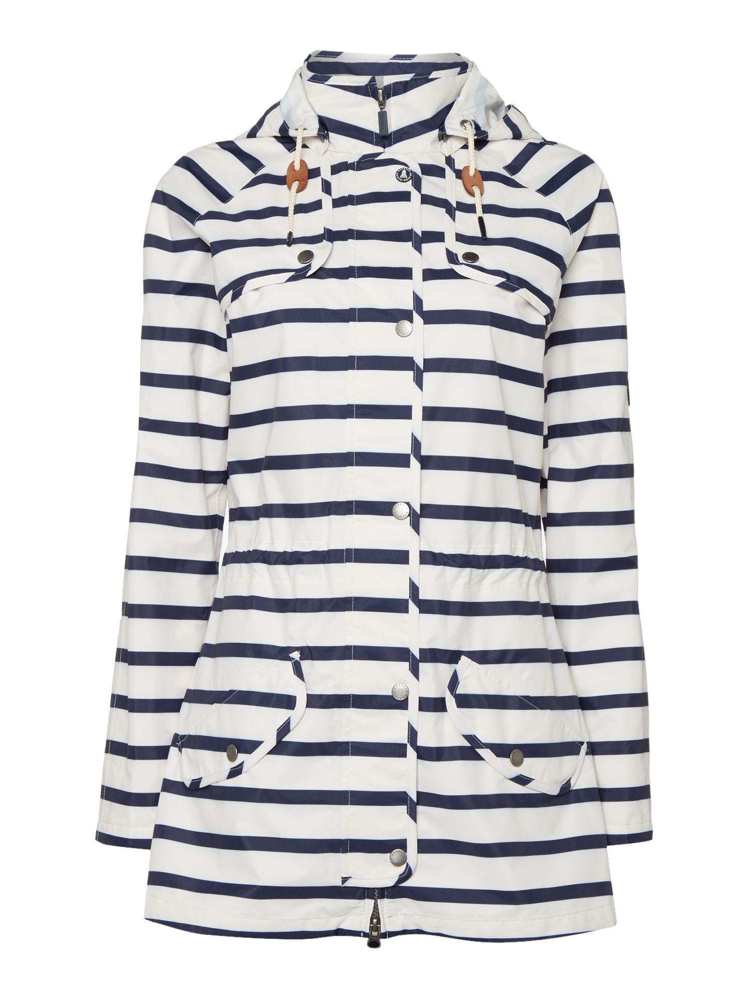 Barbour Stripe trevose jacket, White
