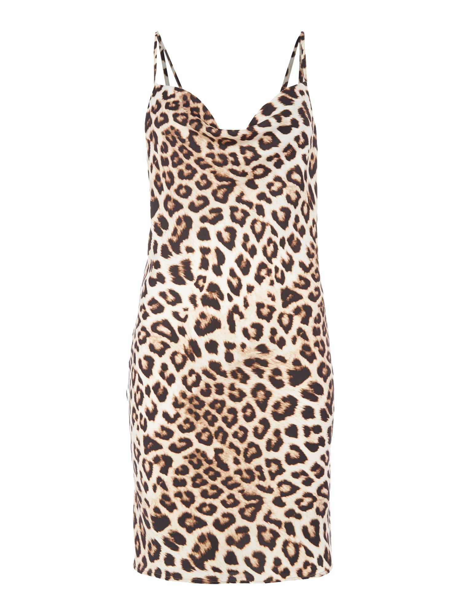 Bardot Sleeveless Leopard Print Dress, Multi-Coloured