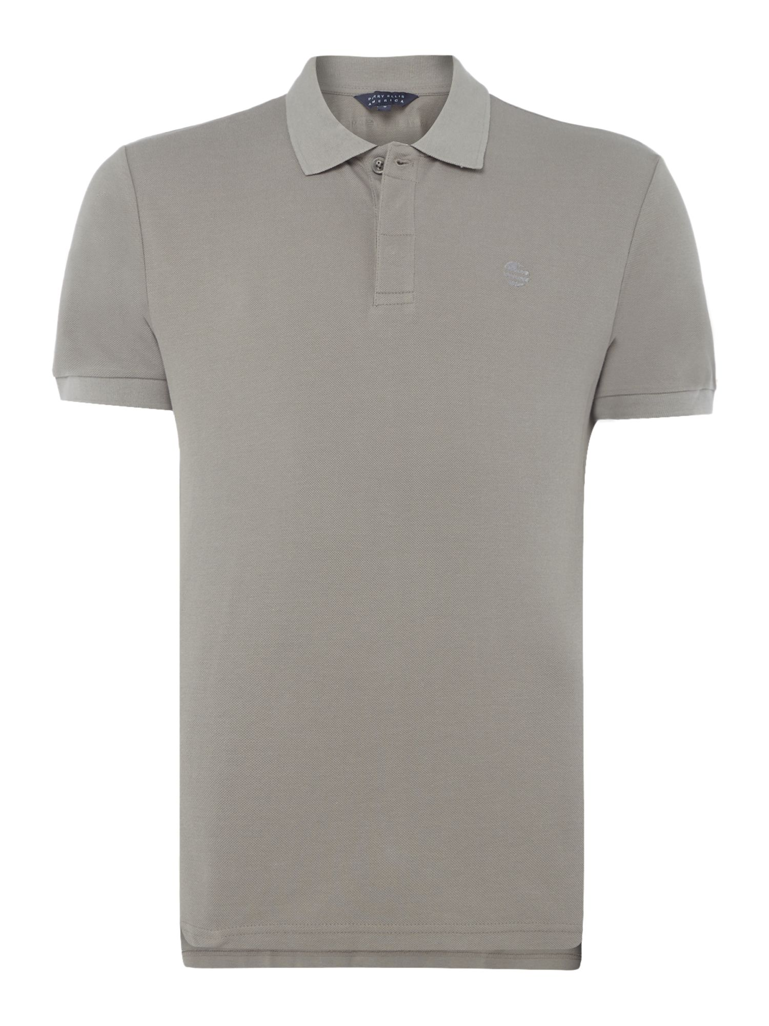 Men's Perry Ellis America Archive Fit Short-Sleeve Polo-Shirt, Grey
