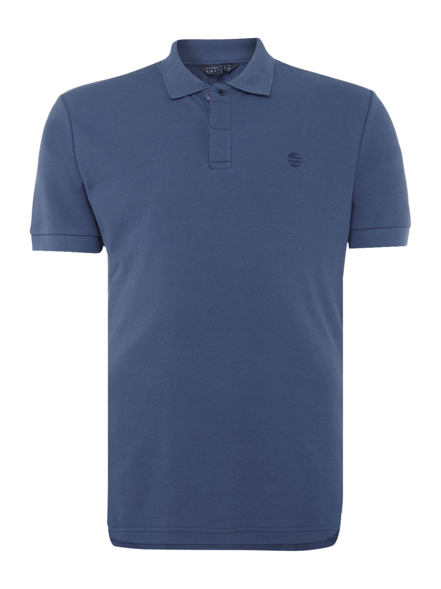 Men's Perry Ellis America Archive Fit Short-Sleeve Polo-Shirt, Indigo