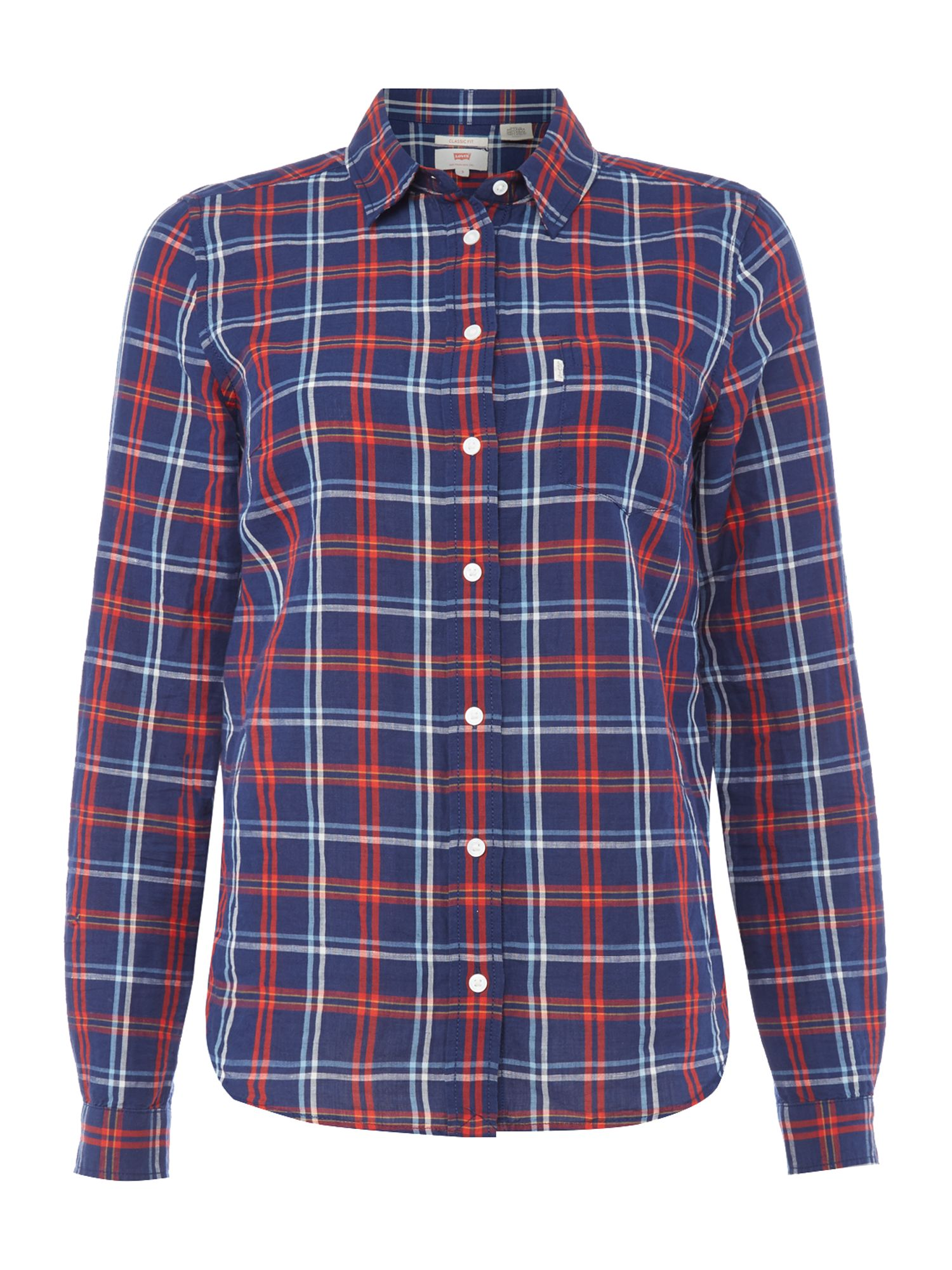 Levi's Long Sleeve shirt in Cittern Medieval Blue Plaid, Blue