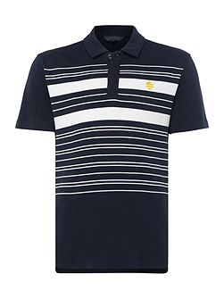 Placed Stripe Short-Sleeve Polo-Shirt