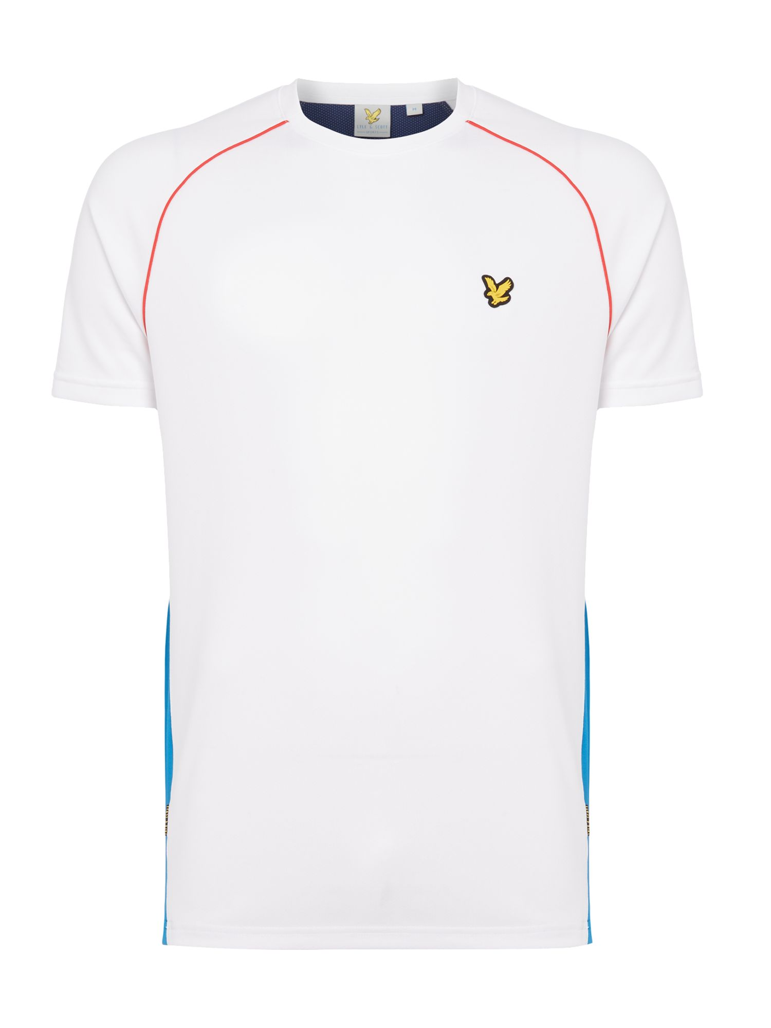 Lyle and Scott Men's Lyle and Scott Sports Two Tone Mesh Crew-Neck T-Shirt, White