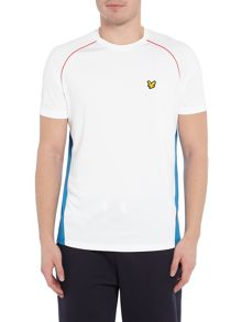 Lyle and Scott Sports Two Tone Mesh Crew-Neck T-Shirt