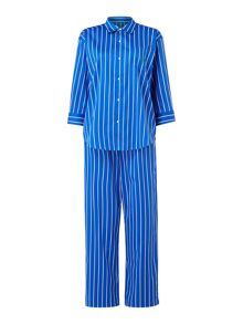 Lauren Ralph Lauren Striped shirt and long pant pyjama set