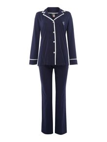 Lauren Ralph Lauren Classic notch collar pyjama set