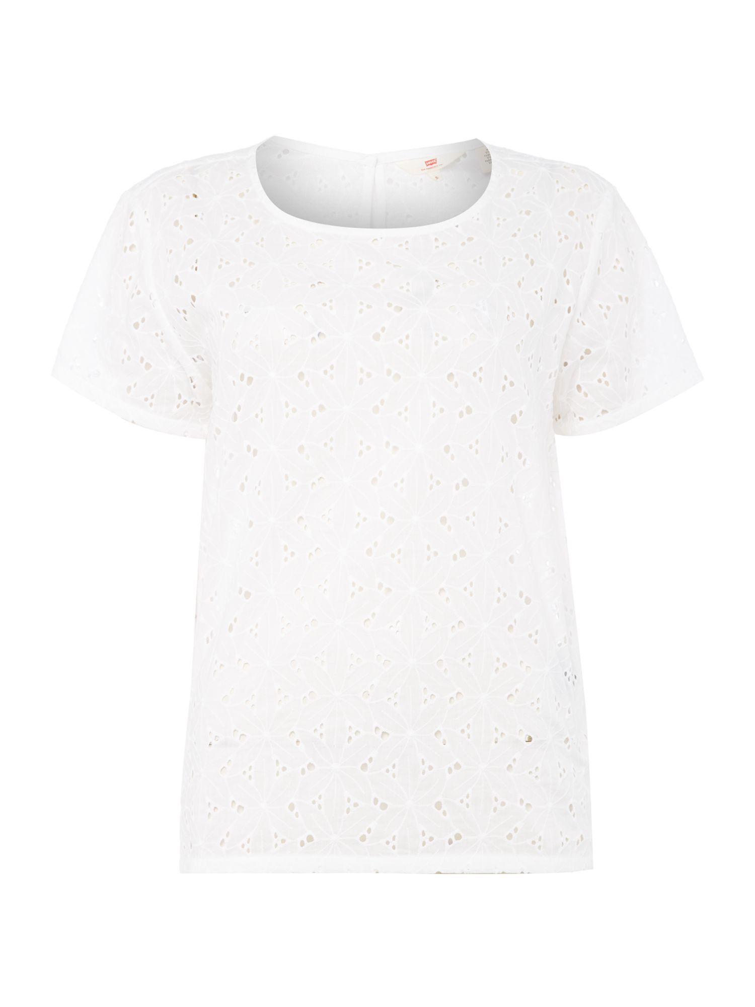Levi's Joanna embroidered top in kissar white, White
