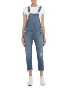 Levi's Heritage Wear Overalls in gold rush blue