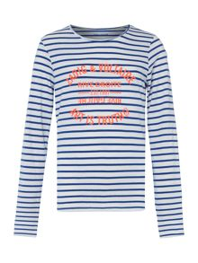 Zadig & Voltaire Girls Striped Cotton Sweatshirt