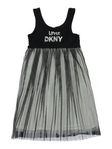 DKNY Girls Bi-Material Dress