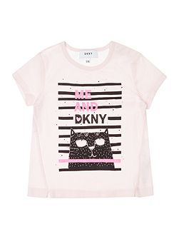 Girls Illustration Logo T-Shirt