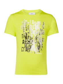 DKNY Boys Illustration Cotton T-Shirt