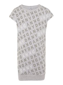 DKNY Girls Cotton Fleece Dress