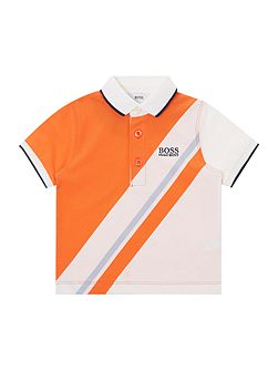 Baby Boys Sport Striped Polo Shirt