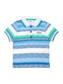 Hugo Boss Boys Striped Polo Shirt